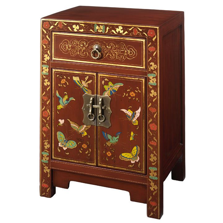 Small Chinese Erfly Cabinet Oriental Bedside Side Table From Shimu Uk