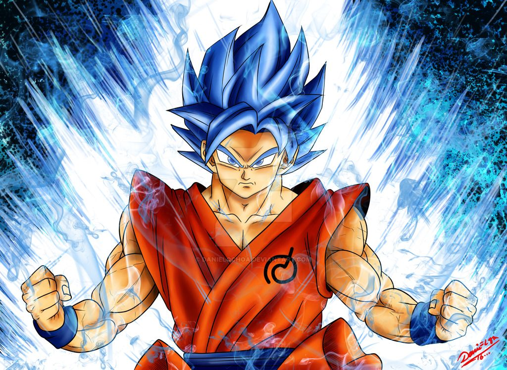Goku Super Sayayin Dios Azul Para Colorear: Goku Ssj Dios Azul By DanielOchoa On DeviantArt