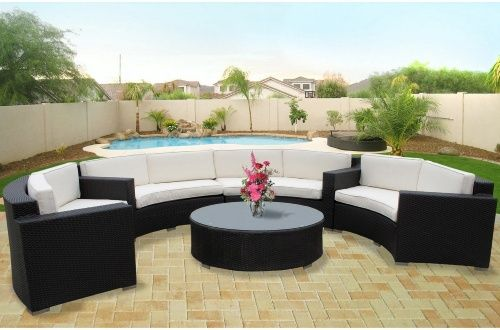 Veranda All-Weather Wicker Sectional Conversation Set - Seats 8 - Conversation Patio Sets at Hayneedle  $3600