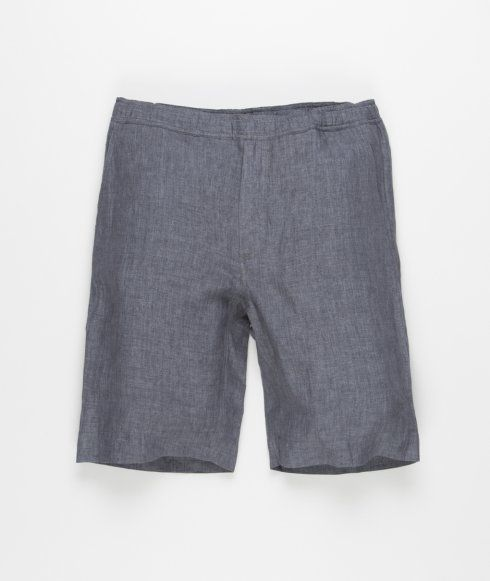 Our Legacy Relaxed Shorts in Charcoal Linen. Produced in an Italian linen fabric the shorts feature two side pockets, two back pockets, a zip fly and an adjustable drawstring waist.
