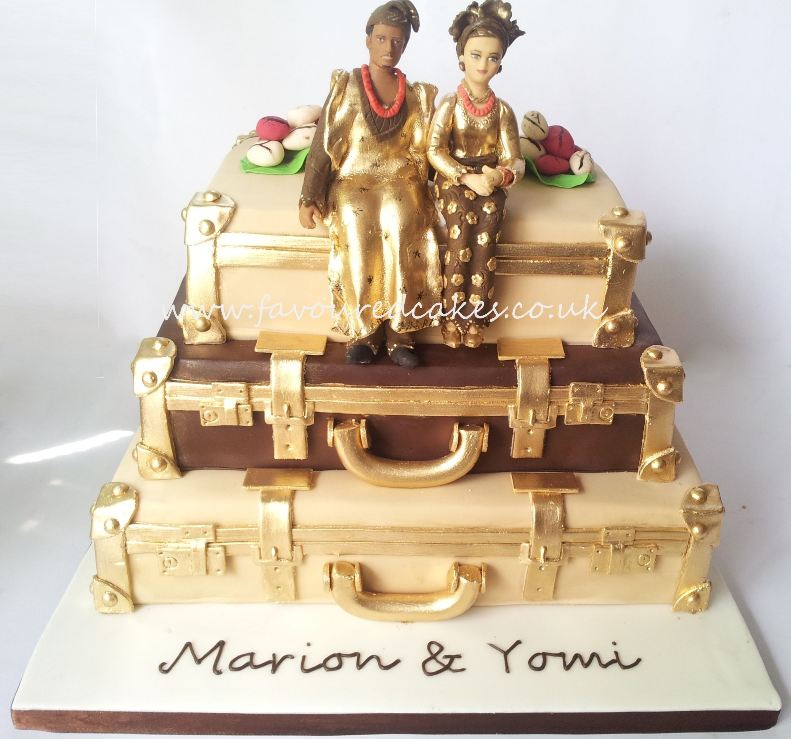 Nigerian Wedding Cake | First comes Love then comes Marriage ...