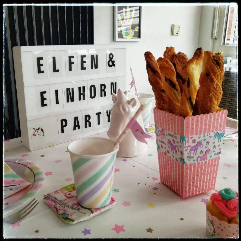 """kindergeburtstag """"elfenund einhornparty""""  einhorn party"""