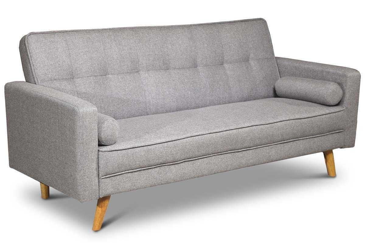 Boston Modern Light Grey Fabric 3 Seater Sofa Bed Fabric Sofa