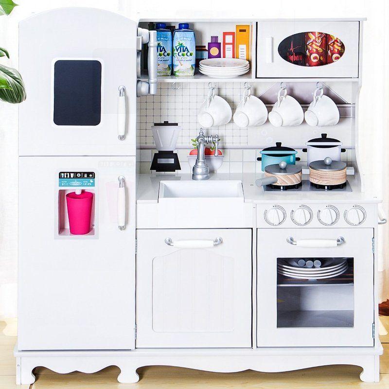 Play Kitchen Set | Wooden play kitchen, Play kitchen sets ...