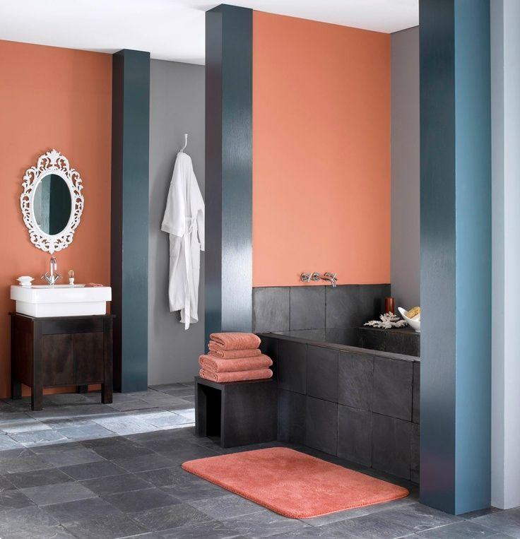 Orange Orange Bathrooms Mission Style Bathroom Bathroom Colors