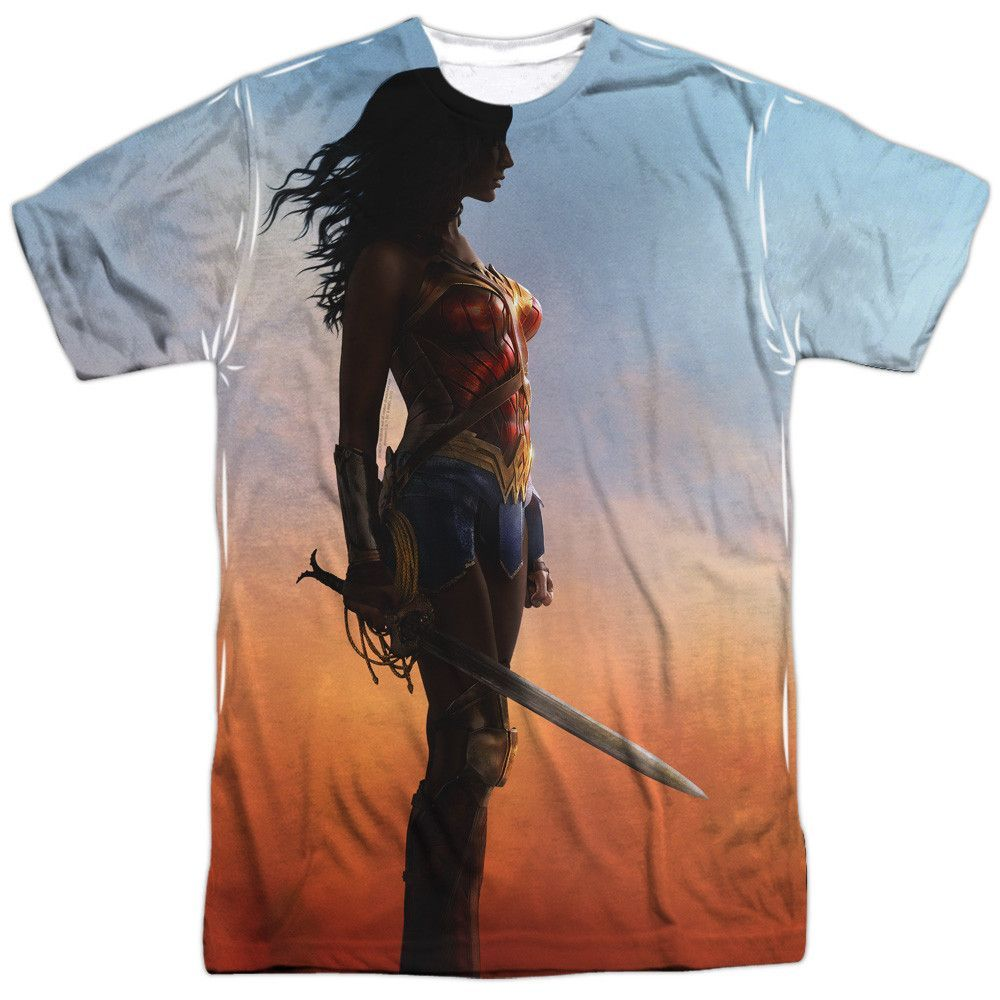 Wonder Woman Movie Poster Adult Tee - Front Print Only