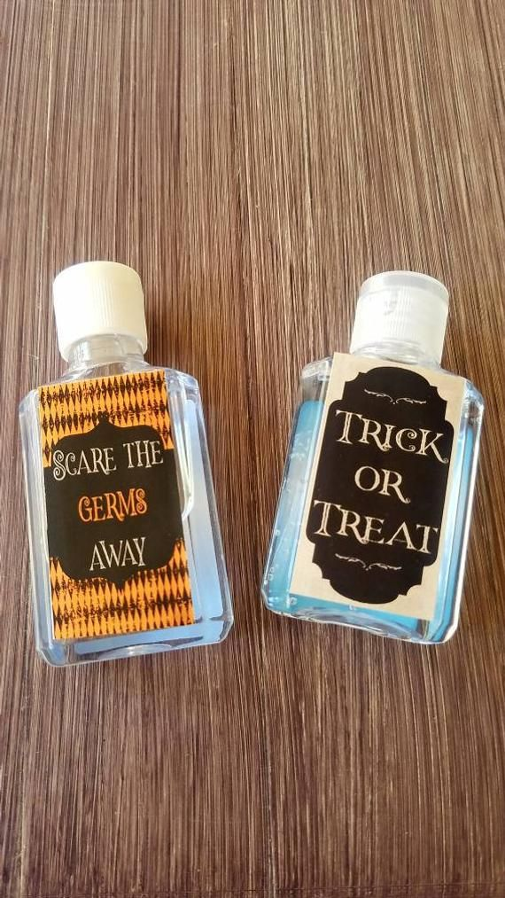 Halloween Baby Shower Hand Sanitizer Labels Party Favors Purell