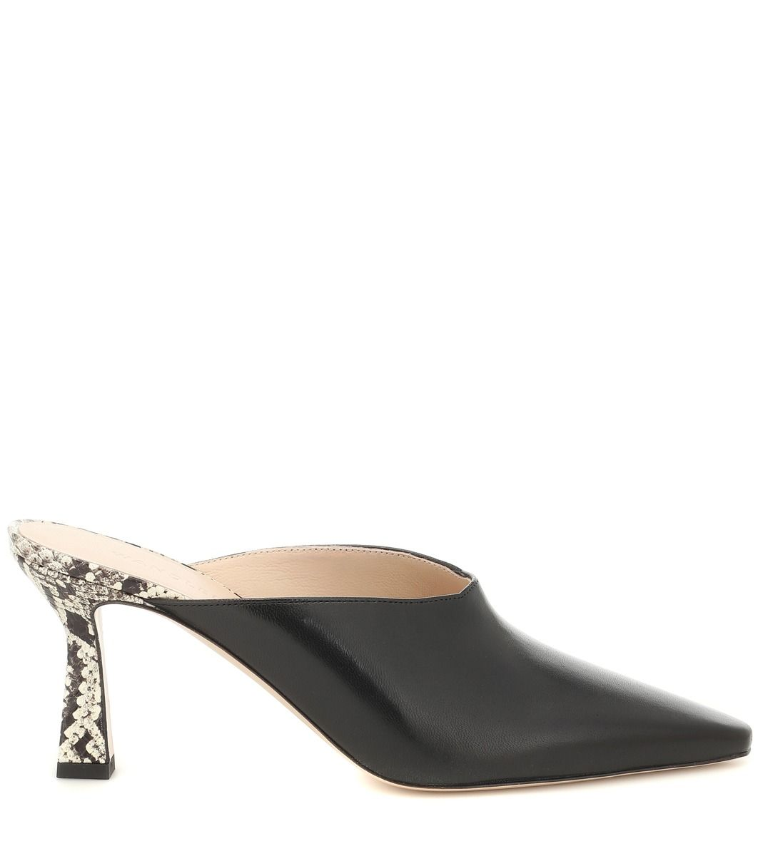 Exclusive To Mytheresa Lotte Leather Mules Leather Mules Patent Leather Pumps Low Wedge Espadrilles