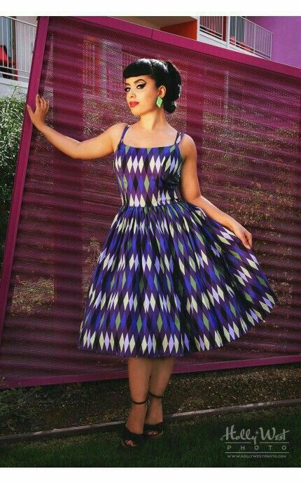Pinup Couture Harlequin Jenny dress size L
