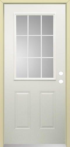 Mastercraft I 4 32 X 80 Steel 9 Lite Prehung Exterior Door Left