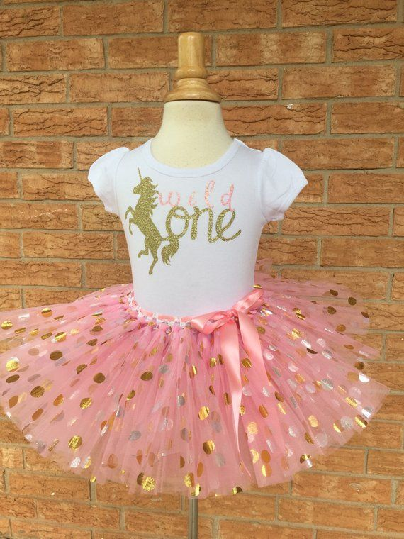 21c427882 Wild one, unicorn 1st birthday outfit, Girls 1 year old birthday, smash  cake, girl's first birthday