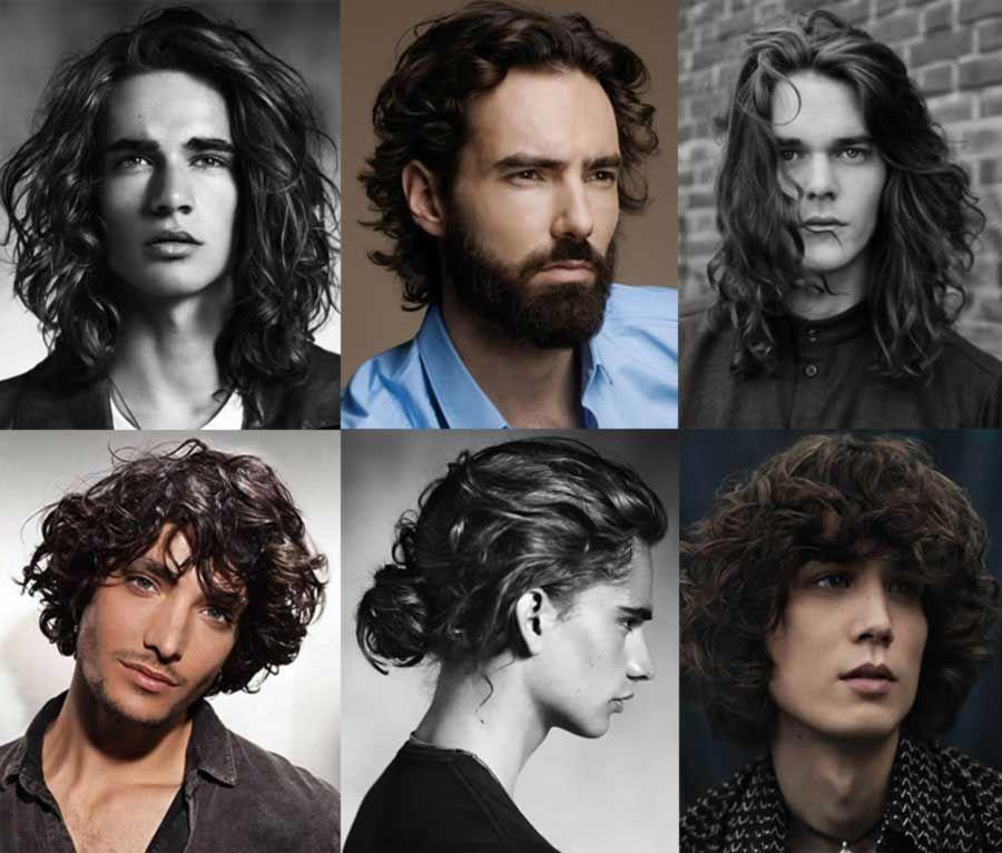 Kıvırcık saçlar için uzun erkek saç modelleri