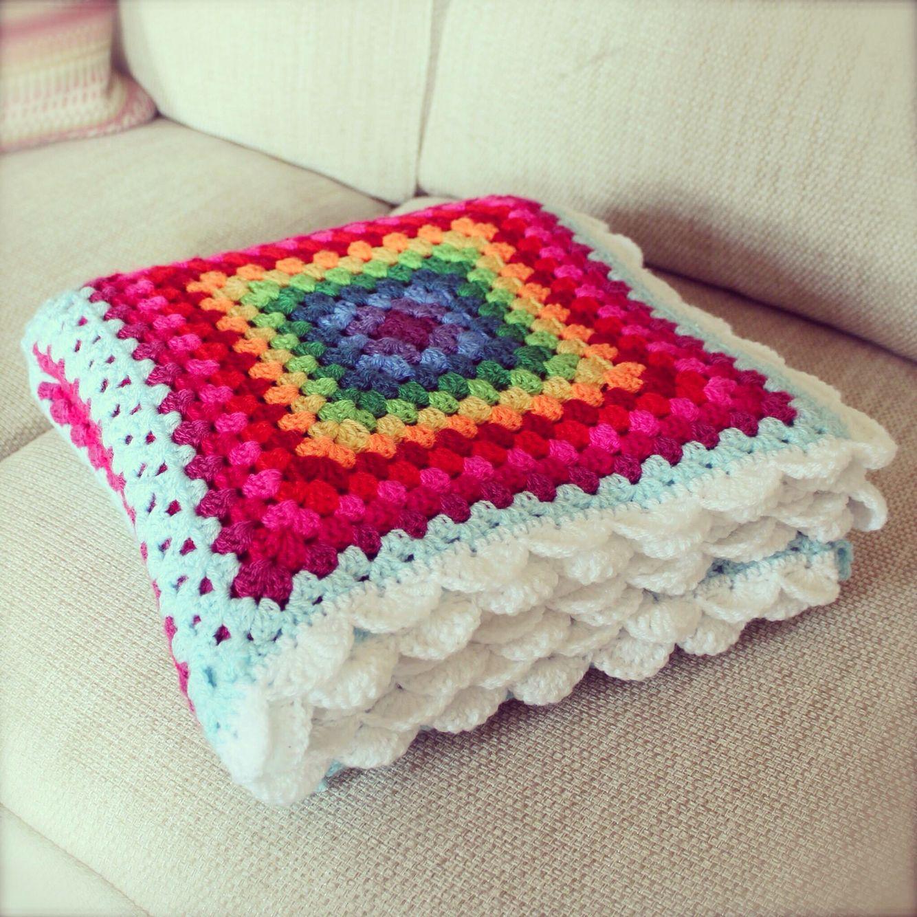 Excelente Patrones De Crochet Cuadrado De La Abuelita Del Reino ...