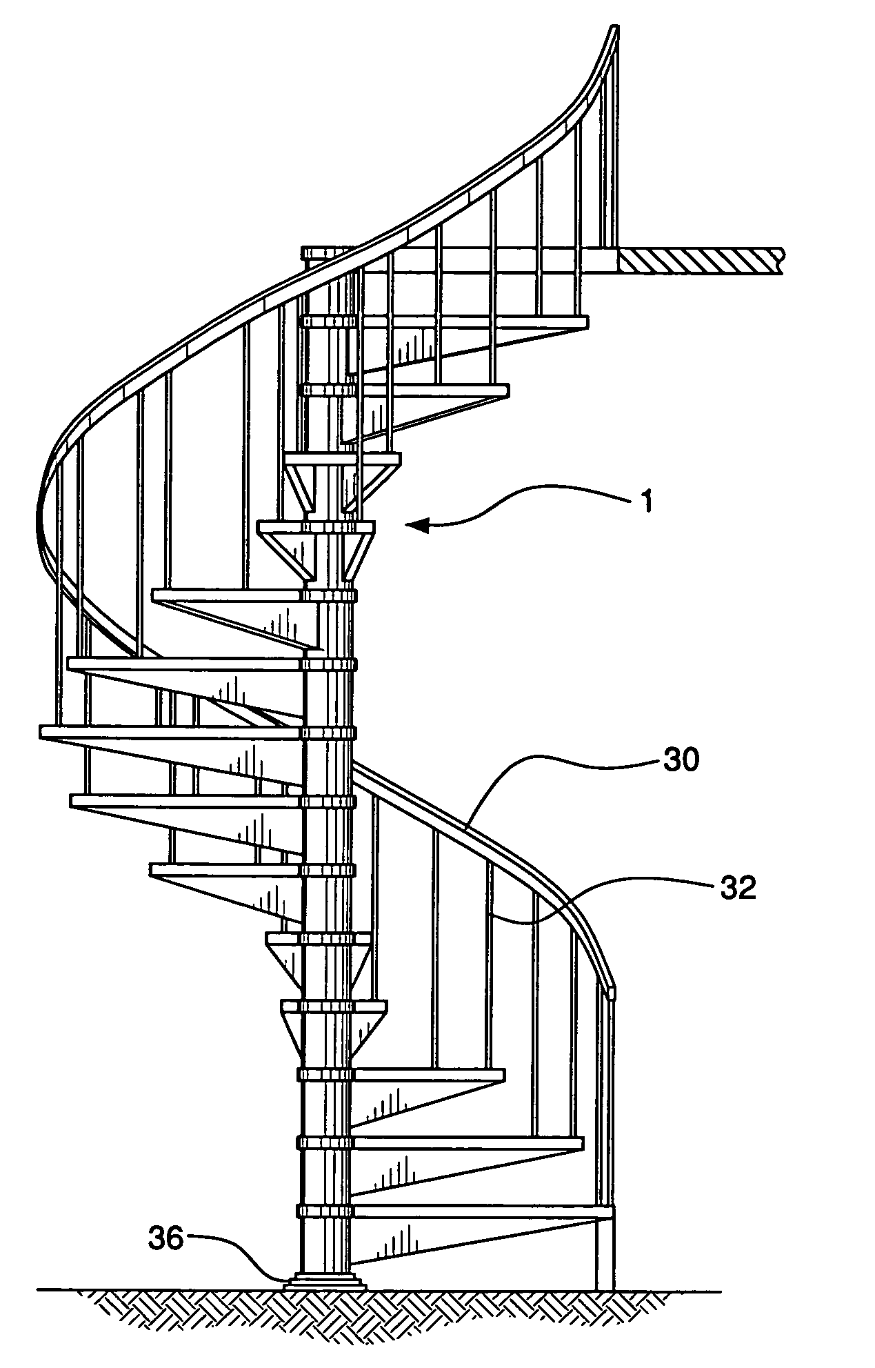 Two story spiral stairs google stairs for Spiral stair dwg