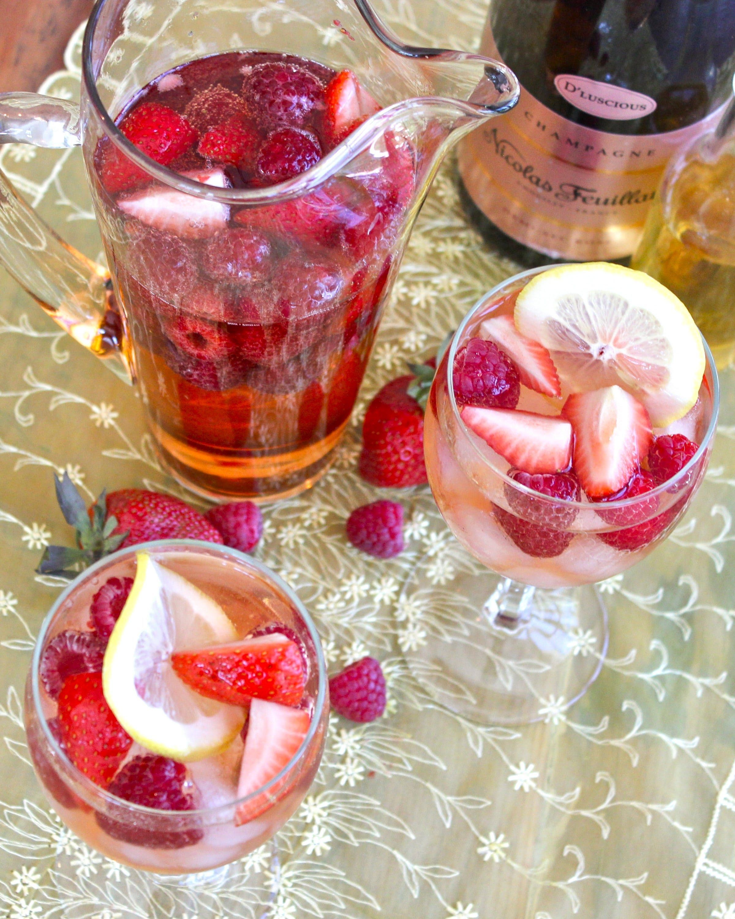 Strawberry & Limoncello Rosé Sangria