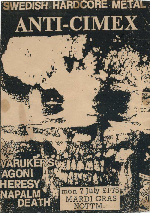 Anti Cimex Varukers Punk Poster Punk Art Vintage Concert Posters