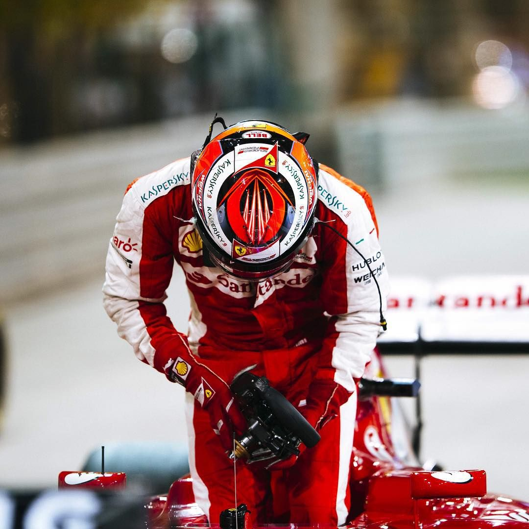 """#Redseason achievements memories:  #BahrainGp #Kimi7 final position #2.  #ReadySetRed #ScuderiaFerrari #Ferrari #F1 #PrancingHorse"""