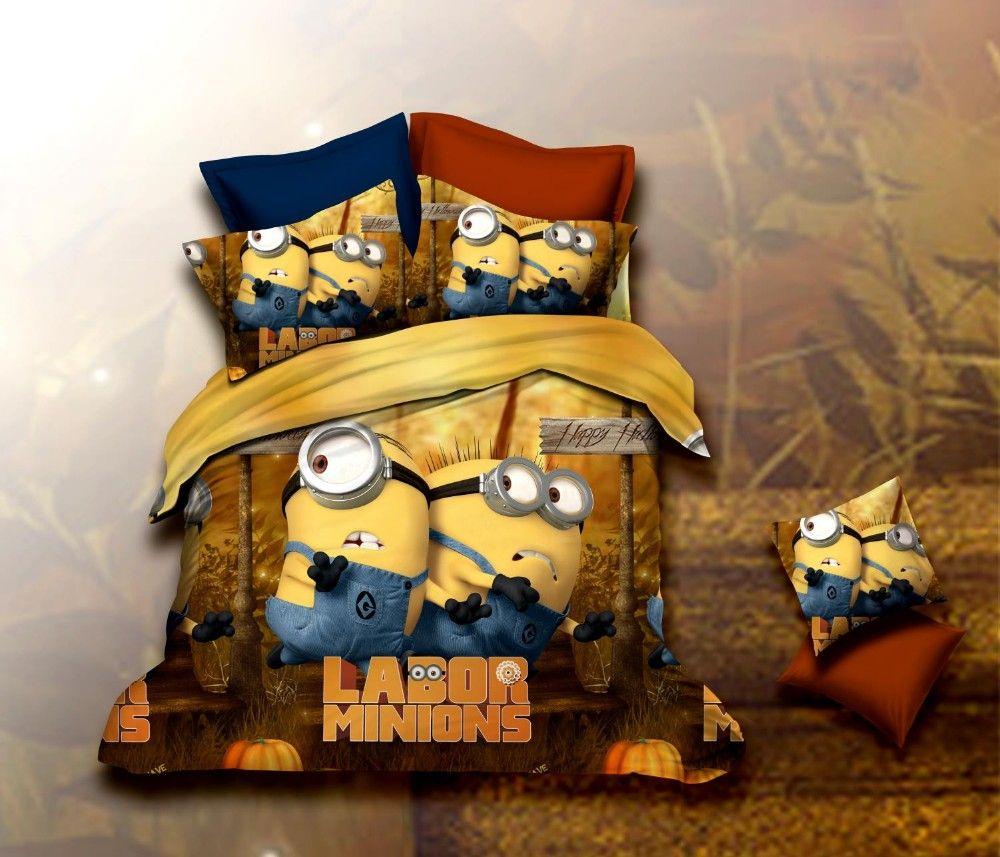 affordable parure de lit lits avengers de minion ensembles literie enfants housses de couette. Black Bedroom Furniture Sets. Home Design Ideas