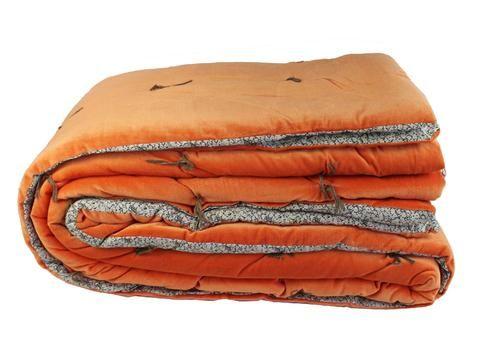 En Fil Dindienne Dessus De Lit Velours Tosca Orange 230x250