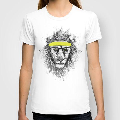 hipster lion T-shirt