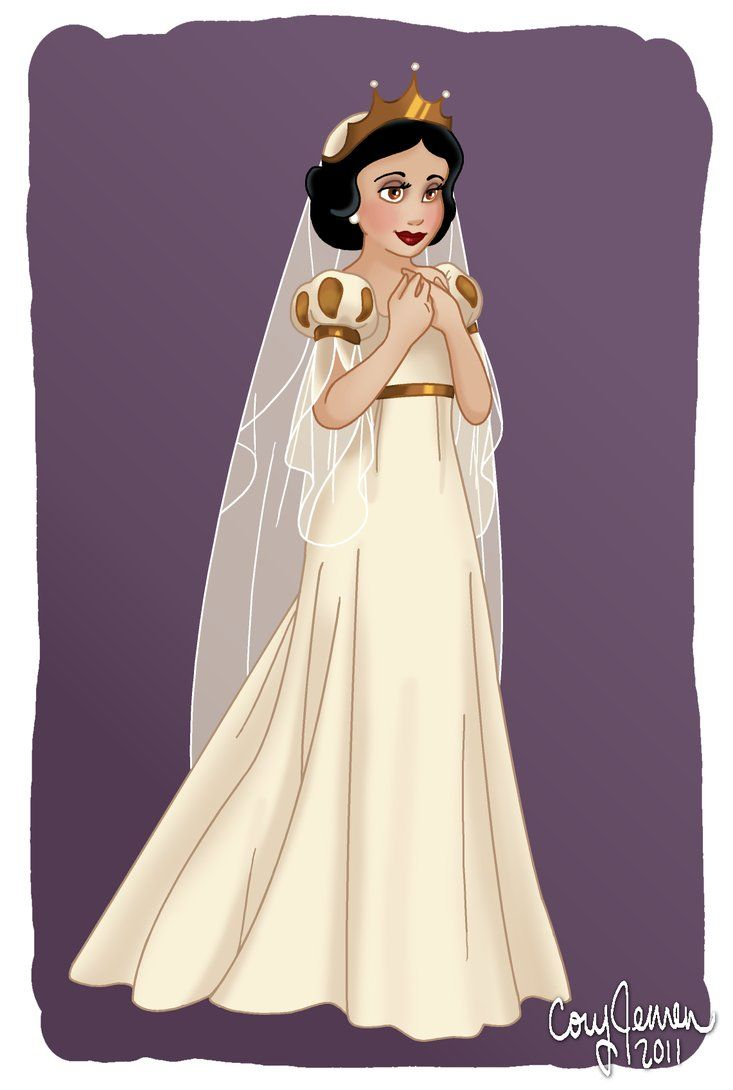 The Fairest Bride Of Them All By Cor104 On Deviantart Princess Wedding Dresses Snow White Disney Snow White Wedding Dress