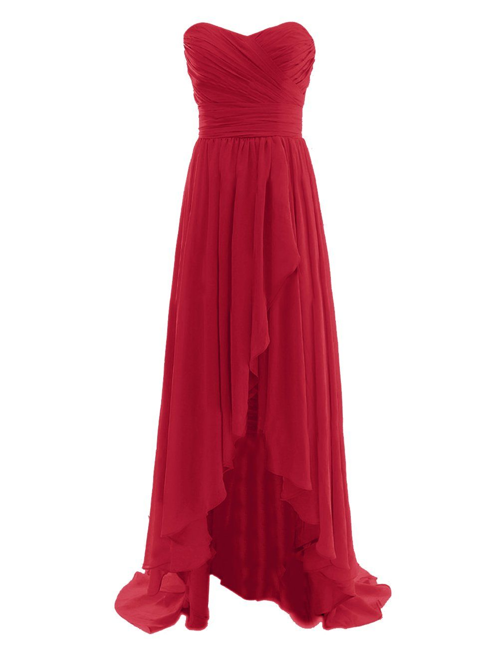 Diyouth long high low bridesmaid dresses sweetheart formal evening diyouth long high low bridesmaid dresses sweetheart formal evening gowns dark red size 22w ombrellifo Gallery