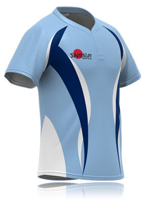 Sky Blue Based Rugby Shirt Design From Www Samurai Sports Com