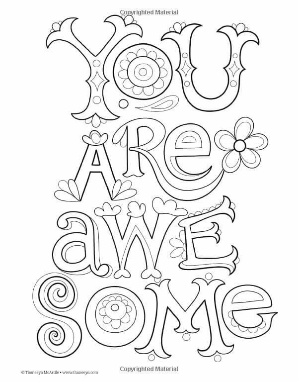 You Are Awesome With Images Designs Coloring Books Coloring
