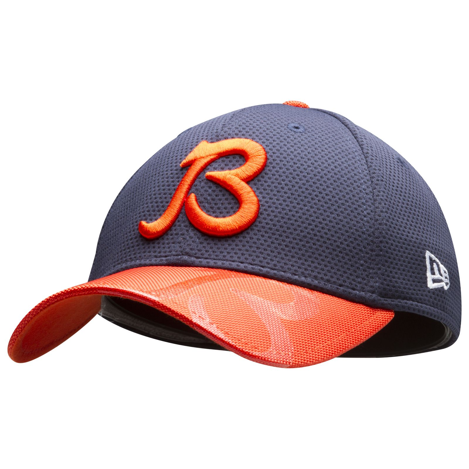 sale retailer dc864 687f9 ... real chicago bears navy and orange b logo 2016 sideline shield flex fit  hat by a8df2 best product image new era ...