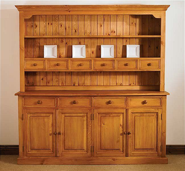 The Mottisfont Waxed Pine Large Welsh Dresser From Ew Home Furniture For With Free Delivery