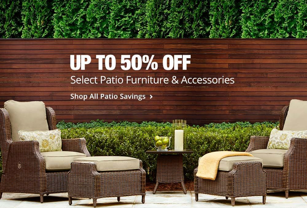 Up To 50% Off Select Patio Furniture U0026 Accessories. Check Out To Get Home