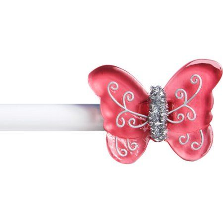 Kenney 5 8 Inch Diameter Butterfly Curtain Rod Pink Decorative