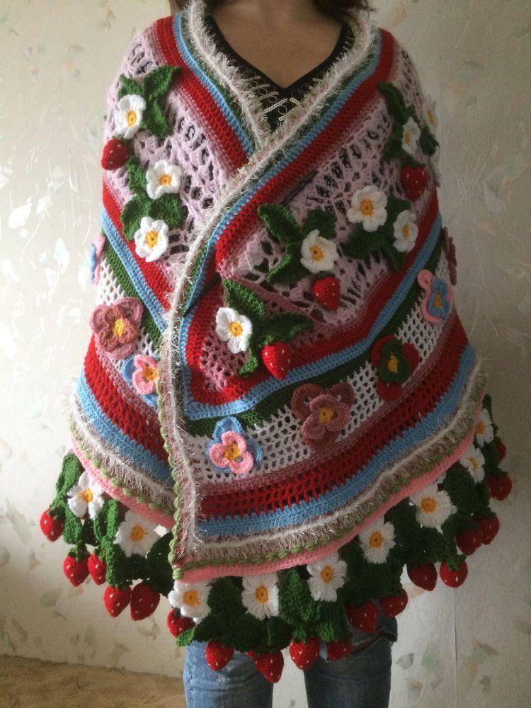Irish Crochet Strawberry Shawl | Bollywood | Pinterest ...