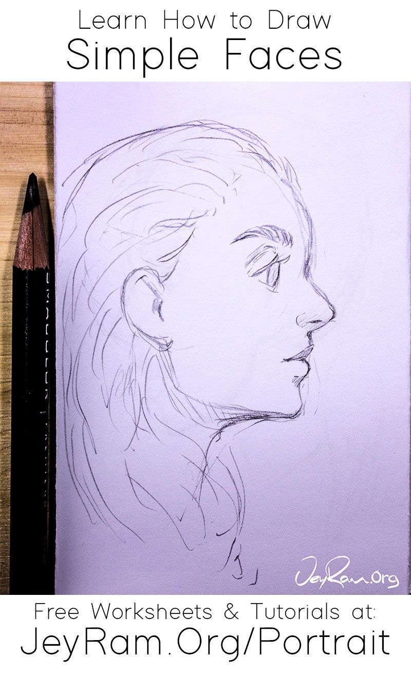 How To Draw Simple Faces In 2020 Simple Face Drawing Tutorial Drawings