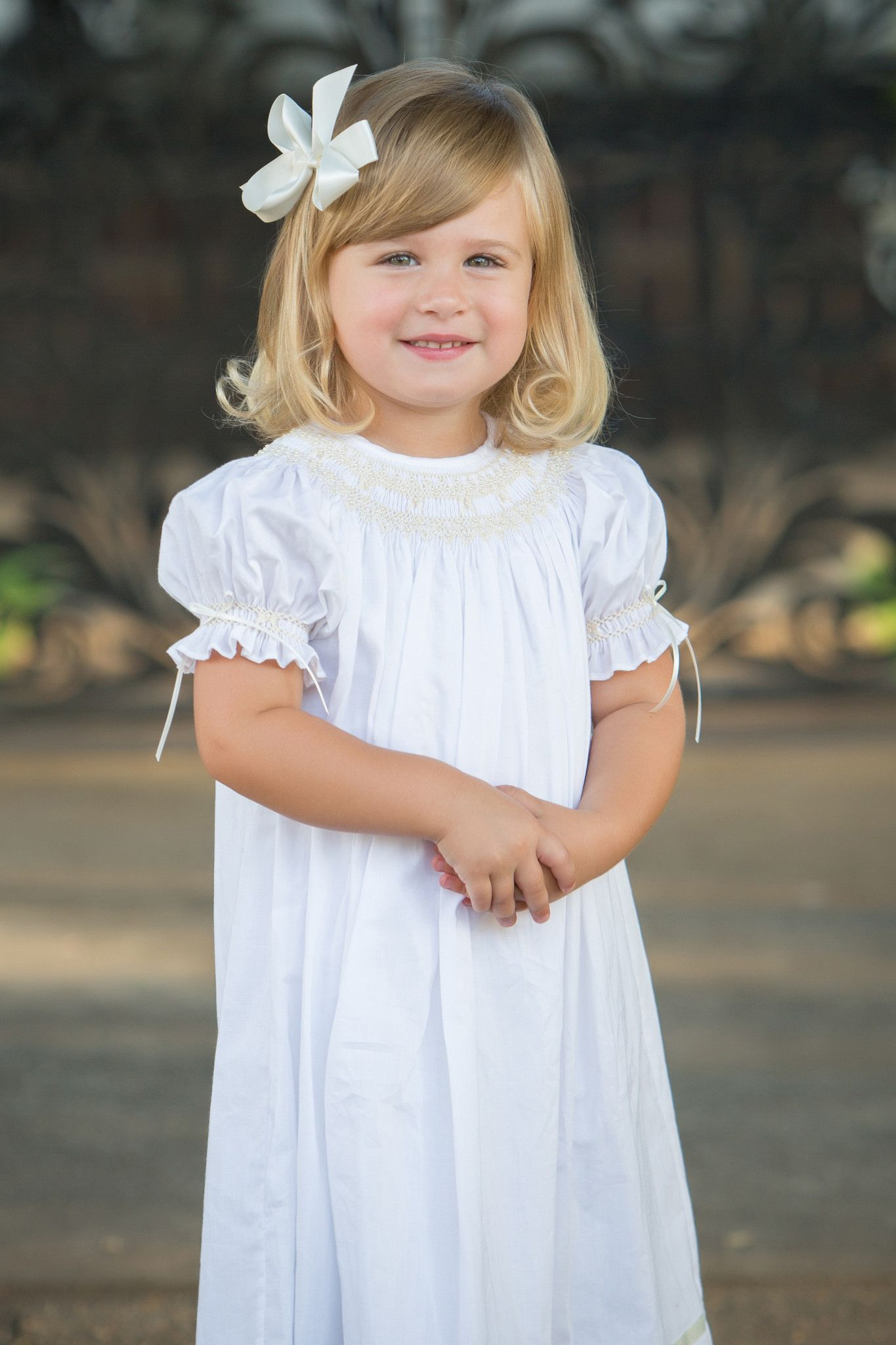 a304b41b979 Strasburg Children Margaret Smocked Heirloom Dress. Great flower girl dress  or holiday dress!  flowergirl