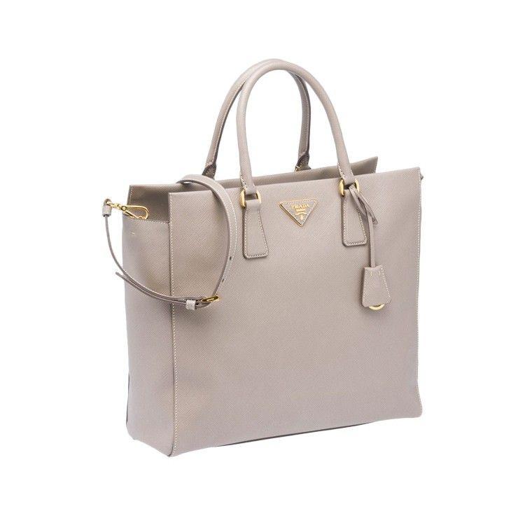 9072f9446317 Prada Saffiano Leather Tote Pale Grey BN2259 Designer Handbags For Less, Discount  Designer Handbags,