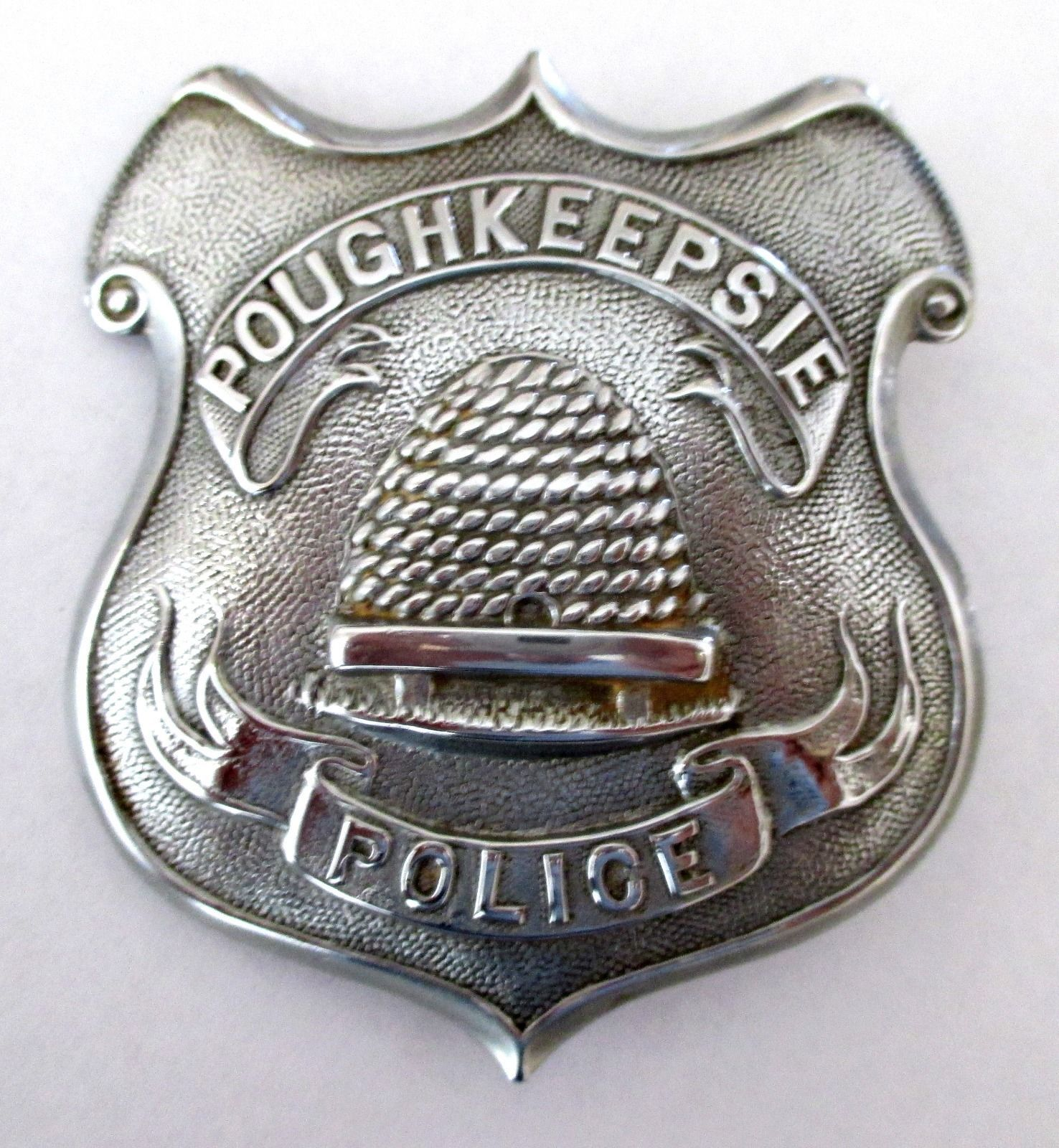 vintage obsolete police officer badge for poughkeepsie n y circa