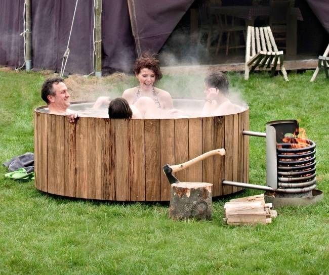 Une baignoire exterieure chauffante sans se ruiner en 2019 - Fabriquer un chauffe eau piscine bois ...