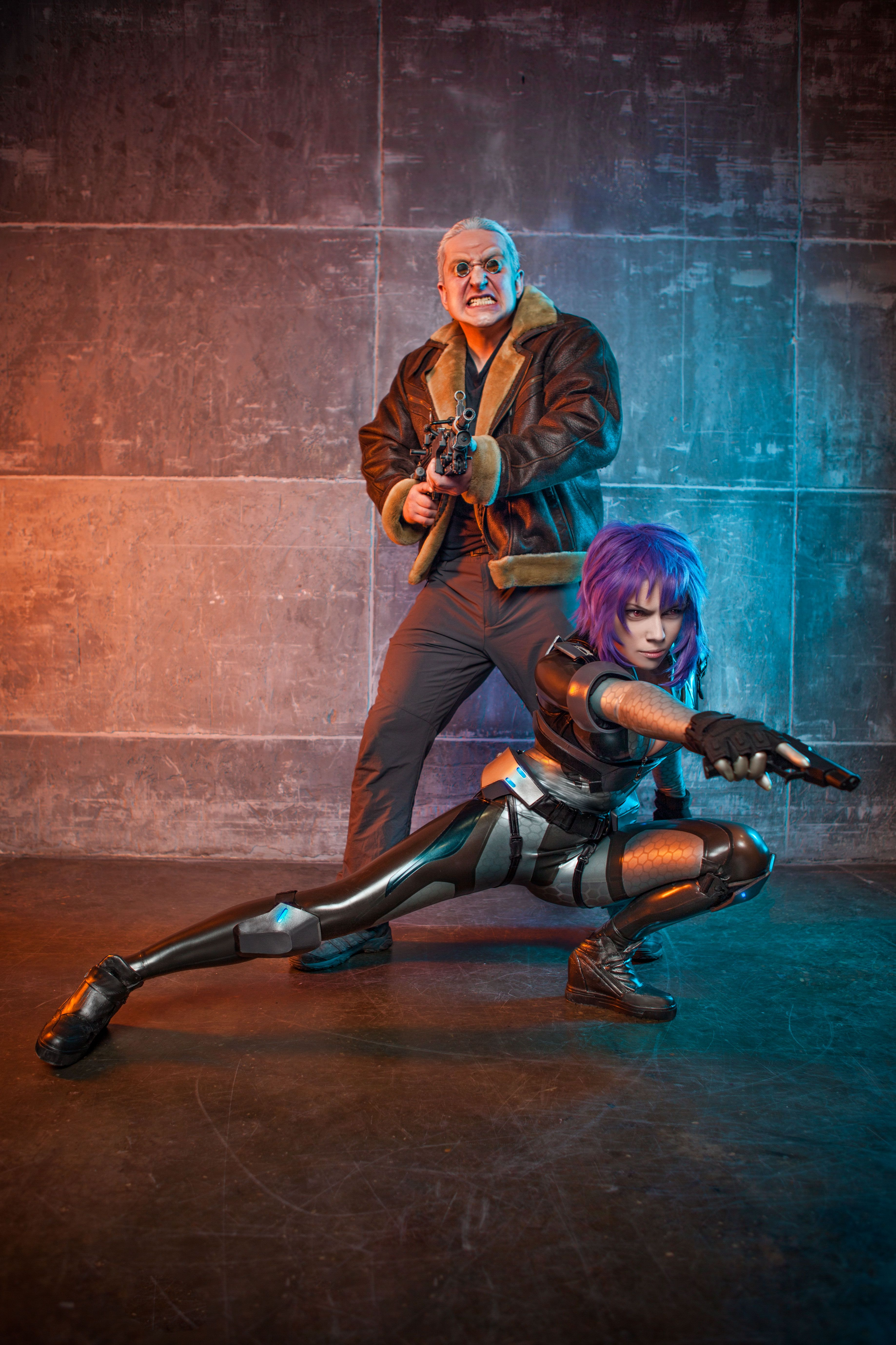 Ghost In The Shell Cosplay Major And Batou Ghost In The Shell Ghost Best Cosplay