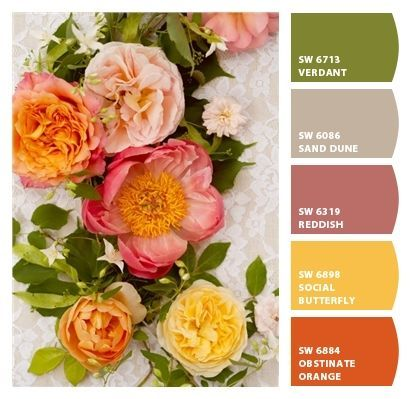 Elegant sophisticated muted punch colors rose butter Sophisticated paint colors for living room