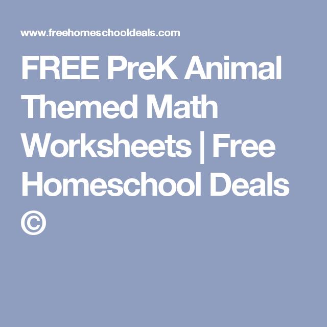 FREE PreK Animal Themed Math Worksheets