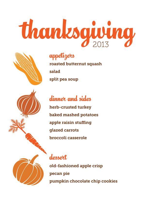 4 thanksgiving menus from hgtv magazine pinterest thanksgiving