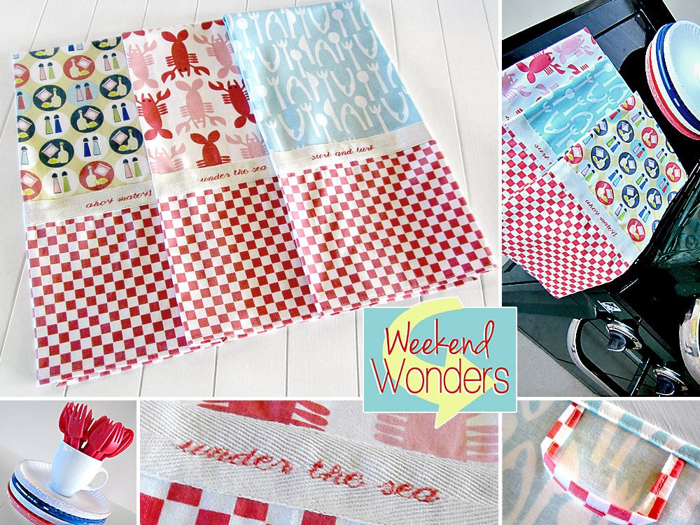 Sew Kitchen Towels Using The Crabtastic Fabric Line From Blend Fabrics Great Prints