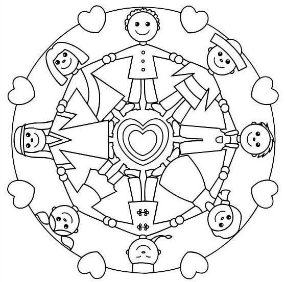 Cocuklar Icin Keyifli Ve Basit Mandala Ornekleri Boyama Sayfalari Mandala Mandala Boyama Sayfalari