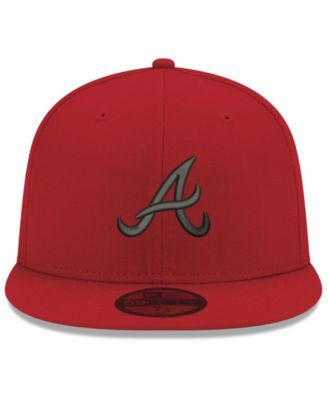 d27a42358bf New Era Atlanta Braves Reverse C-Dub 59FIFTY Fitted Cap - Red Black 7 1 4