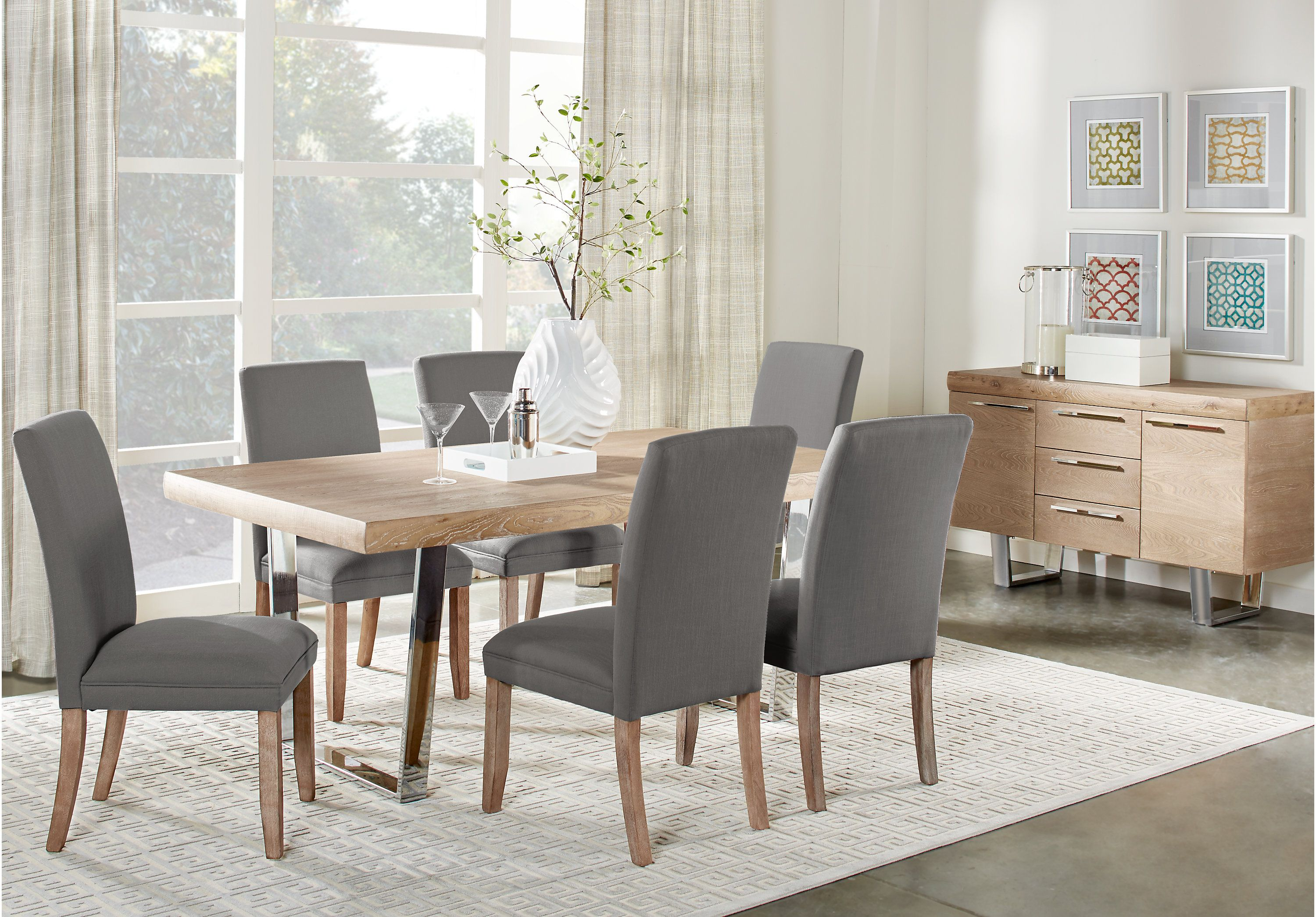 Picture Of Cindy Crawford Home San Francisco Ash 5 Pc Dining Room From Sets