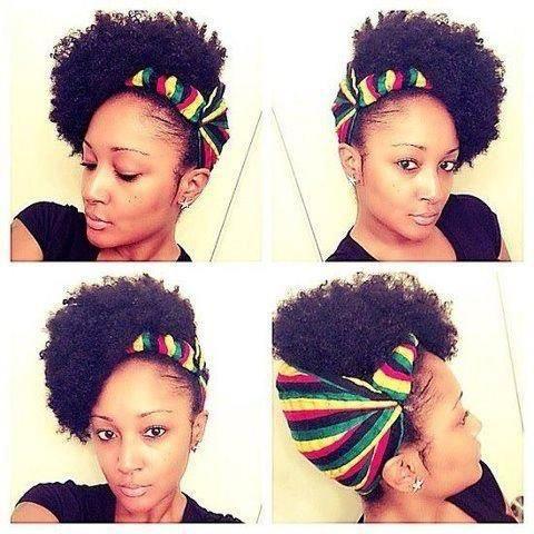 Natural Hair Updo W Scarf Thenaturalmeonline