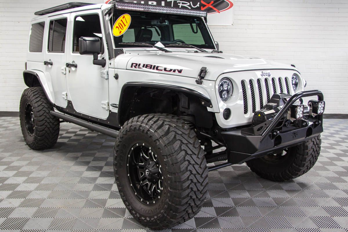 2017 Jeep Wrangler Rubicon Hard Rock Unlimited White Jeep