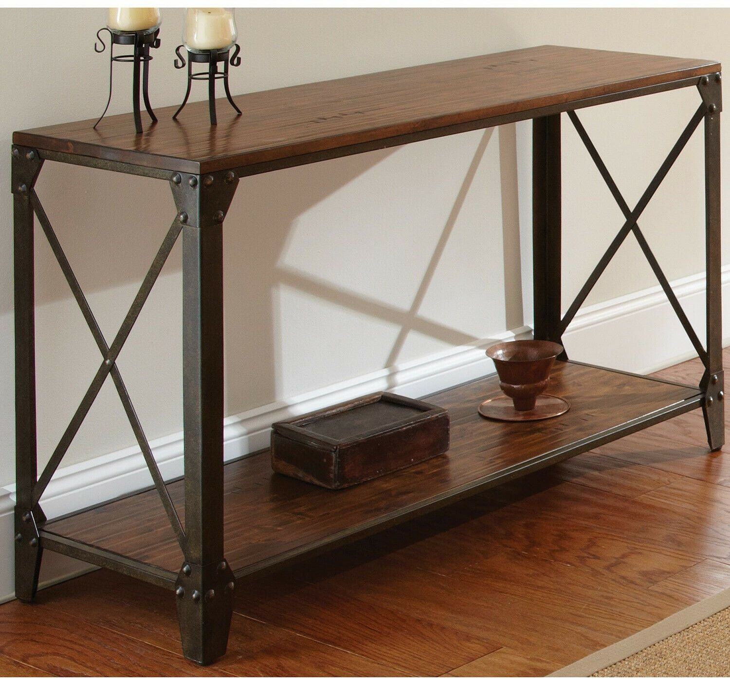 Wood And Iron Rustic Sofa Table Vintage Wood And Metal Console Table Entryway Sofa Table Ideas Of Sofa Table Rustic Sofa Tables Rustic Sofa Wood Sofa Table