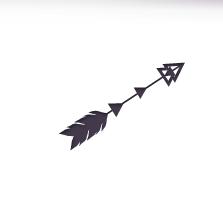 Geometric Tattoo Arrow Vs Feather Avec Le Petit Triangle Dans Les Pointes Dans L Autre Sens Geometric Tattoo Geometric Triangle Tattoo Feather Tattoos